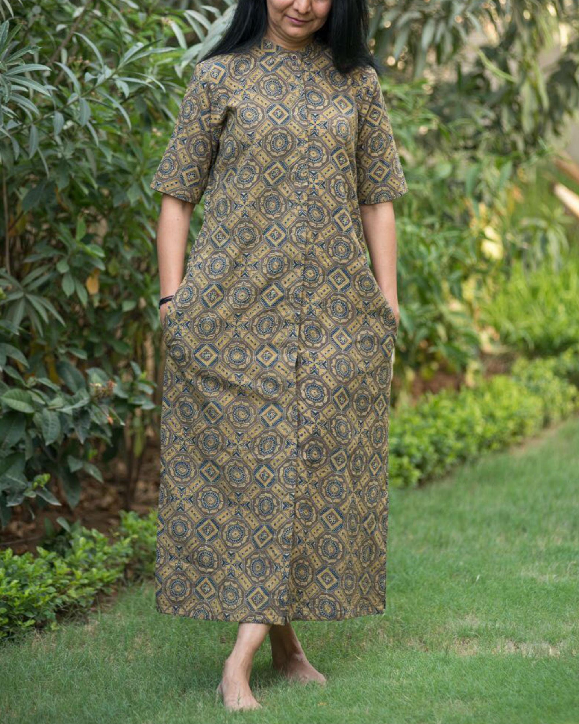 Ajrakh shirt dress