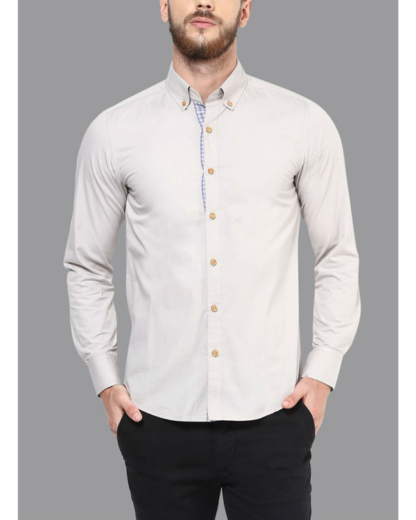 Elbow patch poplin shirt