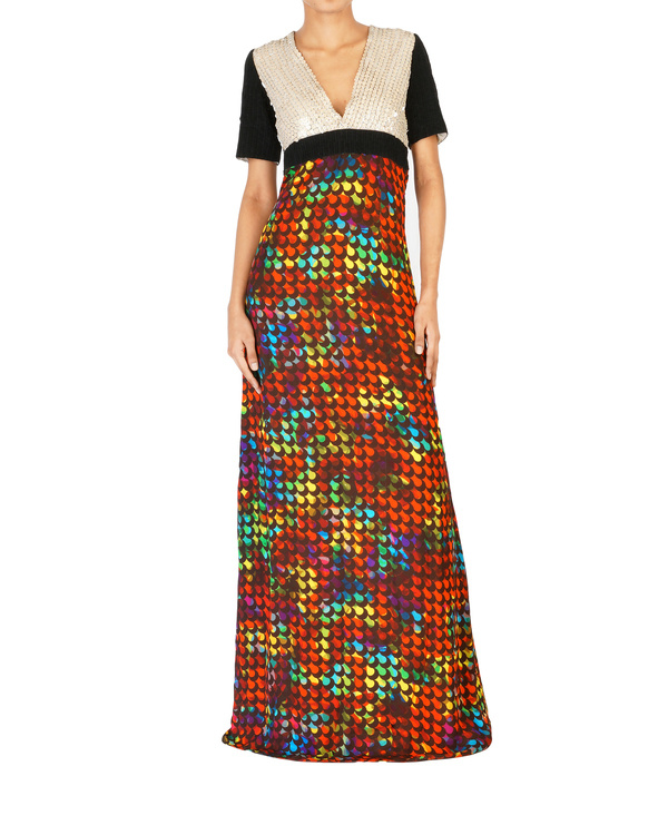 Digitally printed long dress
