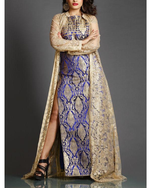 Royal blue cocktail column dress