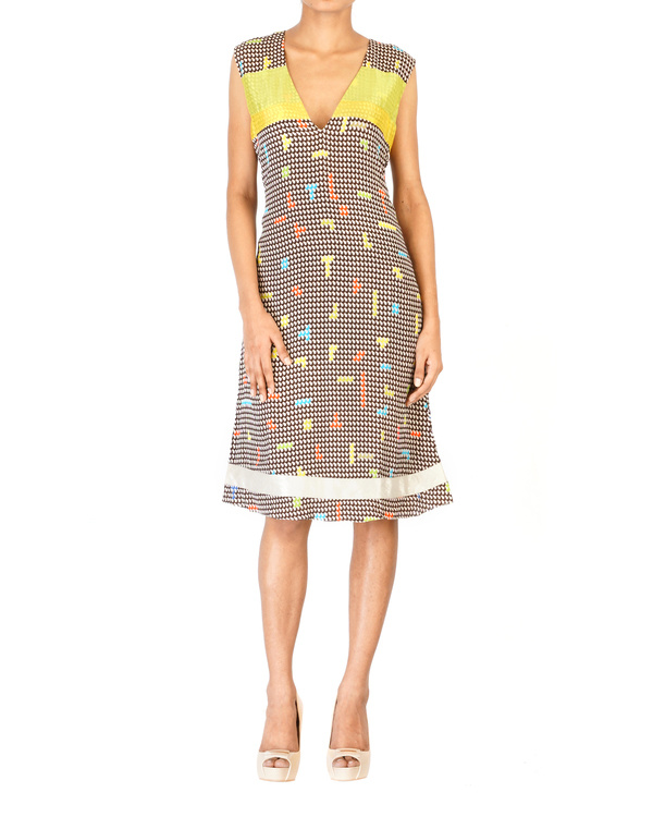 Digitally printed georgette dress