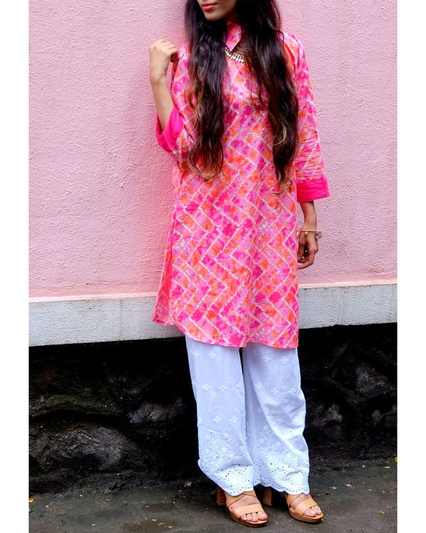 Pink shirt kurta