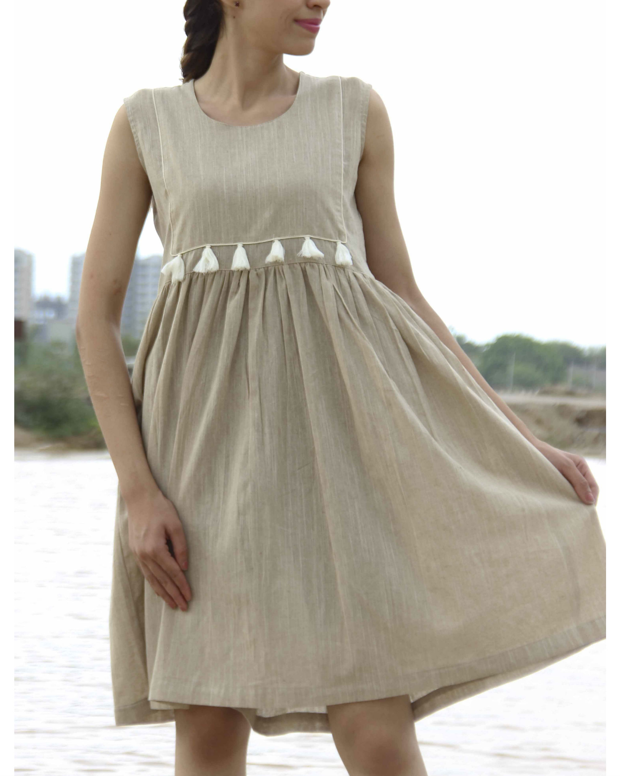 Mud tasseled dress