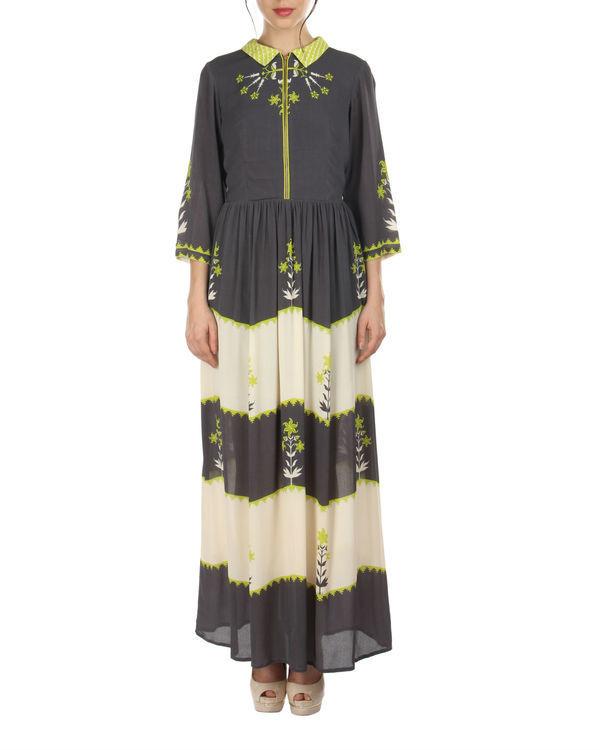 Charcoal shirt dress