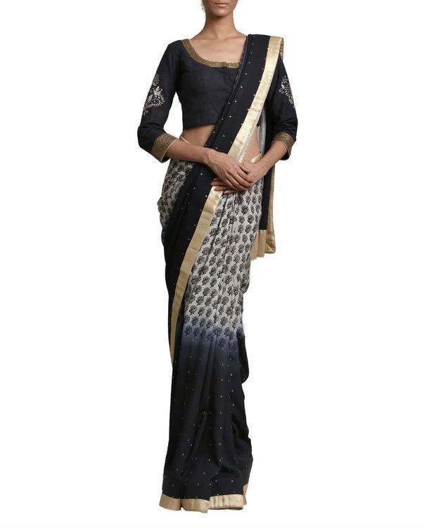 Black ombre sari