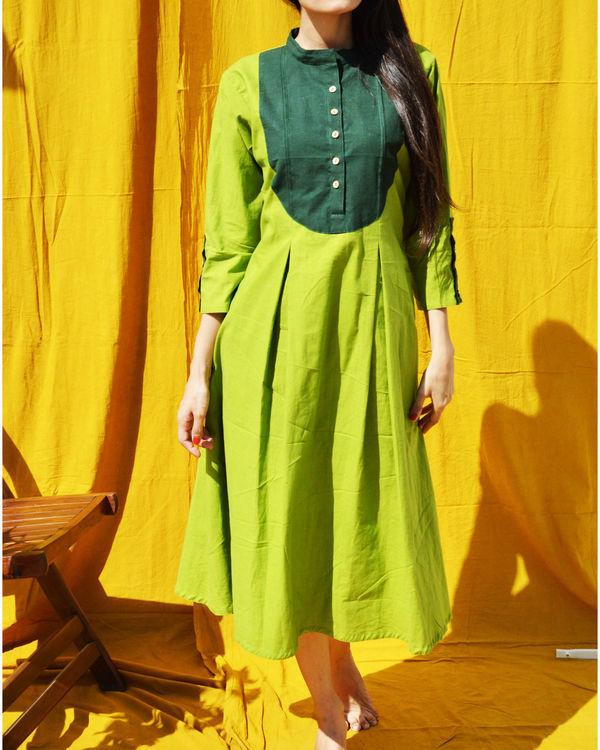 Green a-line tunic