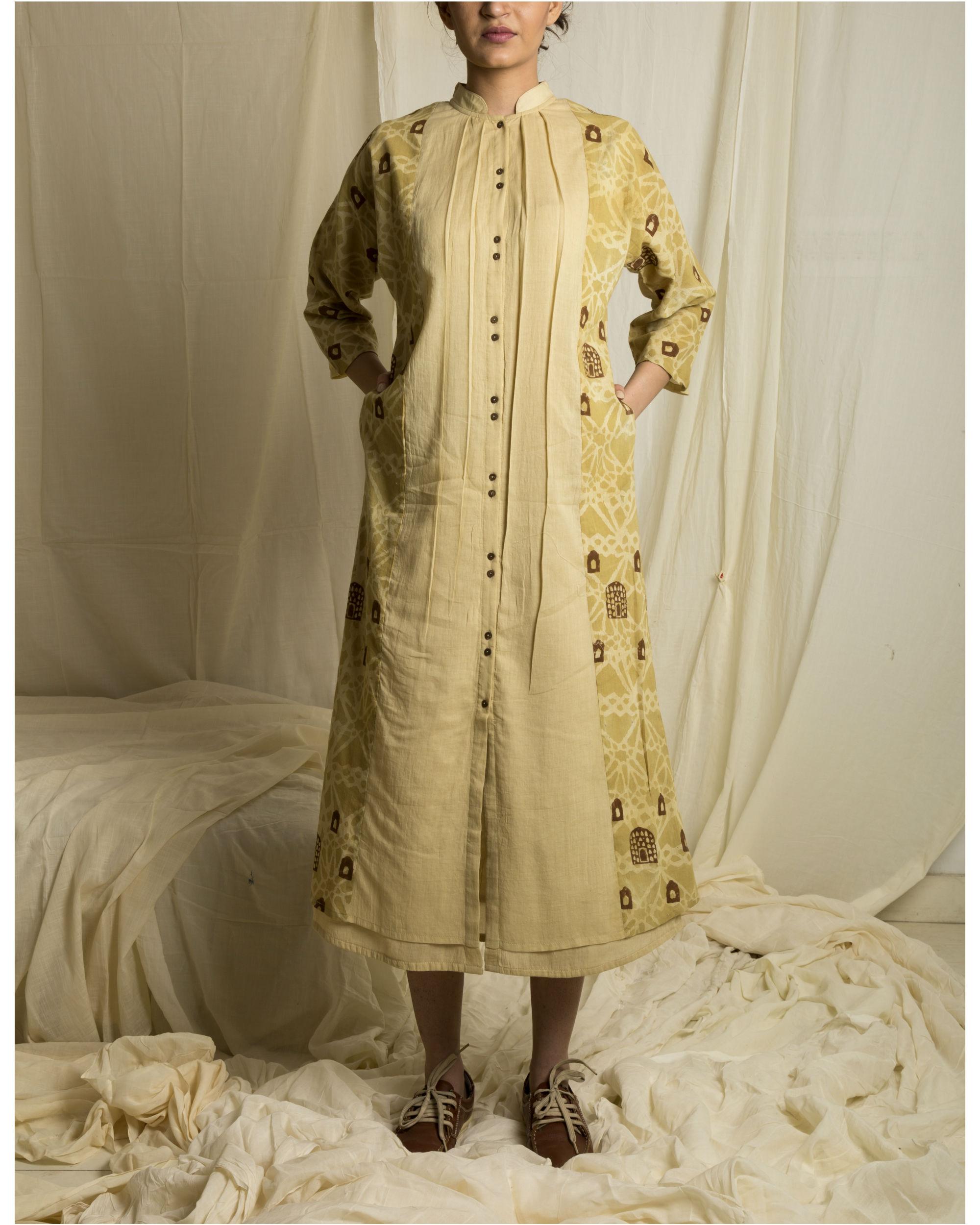 Jharokha panelled dress