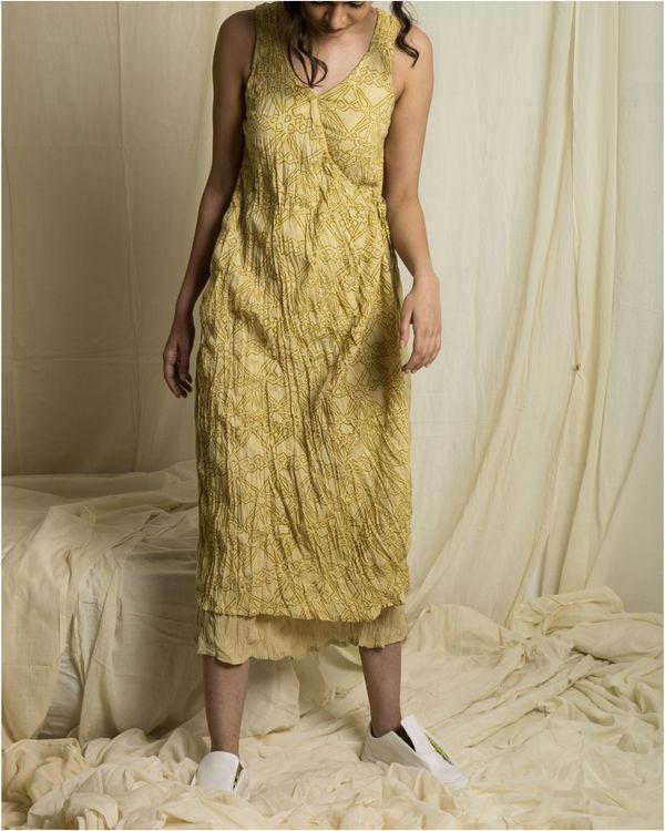 Fawn lapel dress