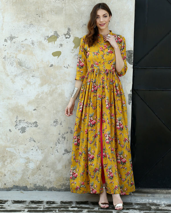 Marigold printed cape