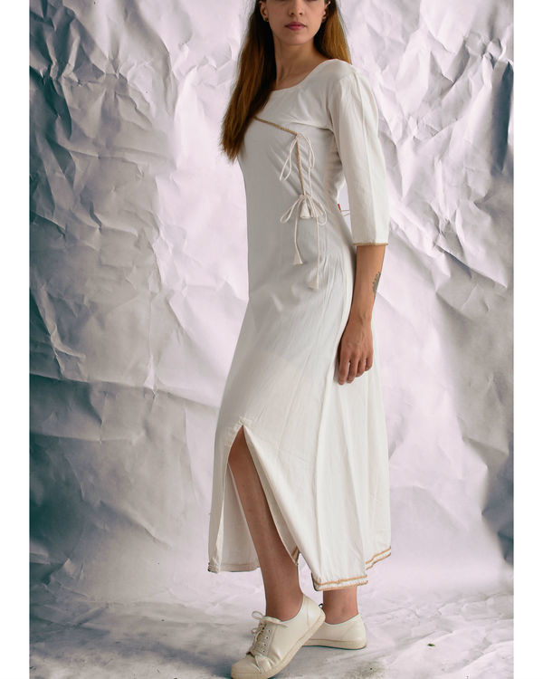 Angrakha white dress