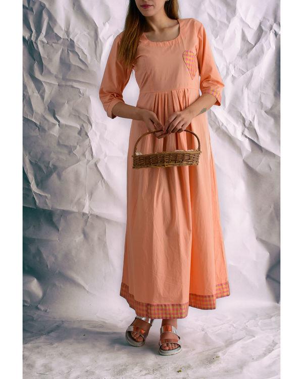 Peach heart maxi dress