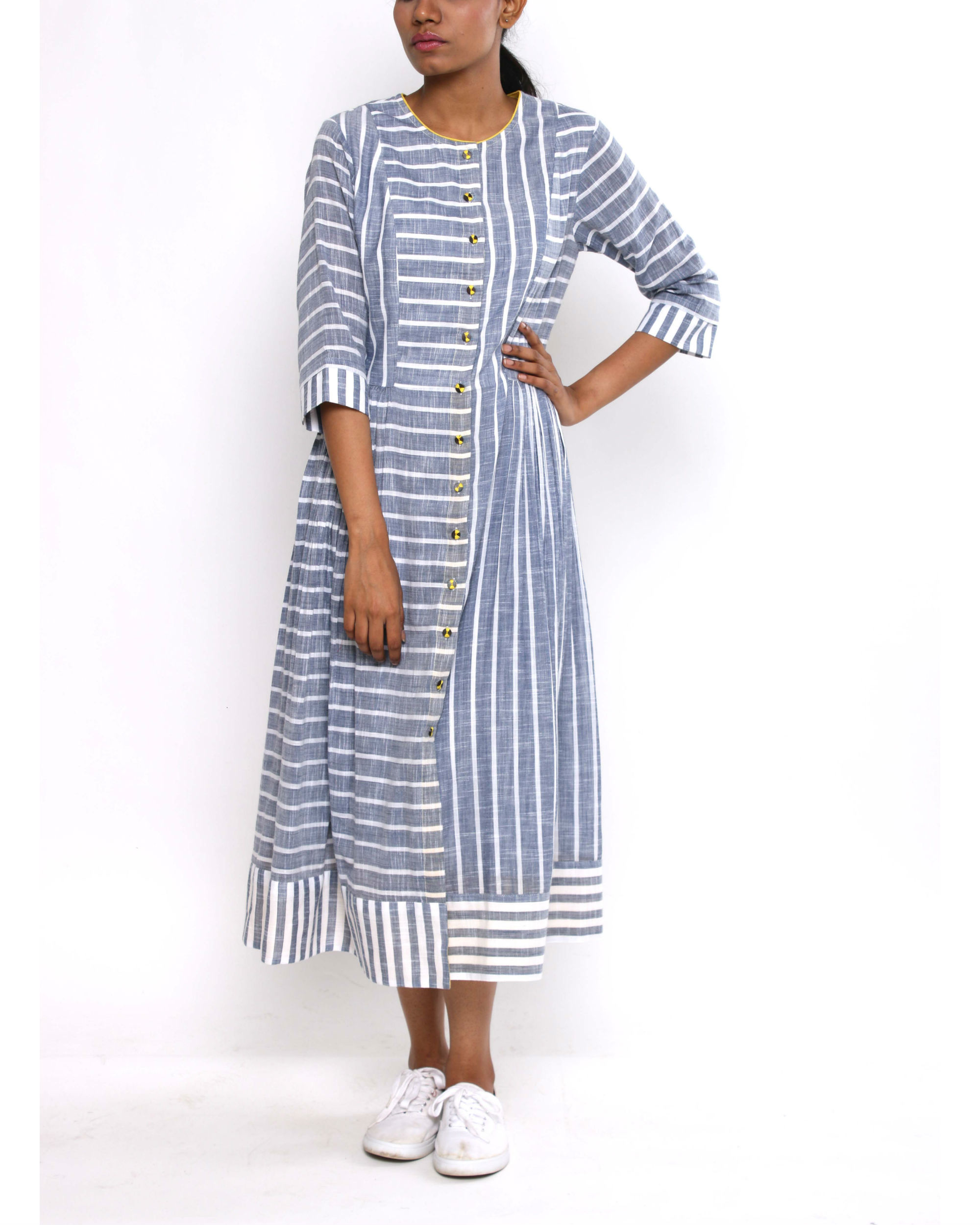 Striped peshi dress