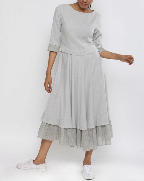 Grey layer dress