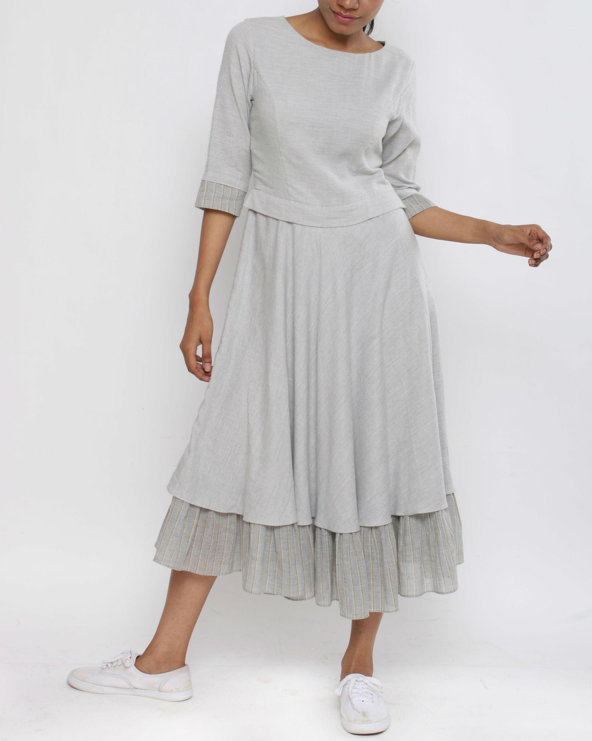 Grey layer dress