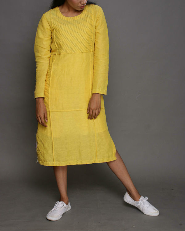 Yellow panel dress