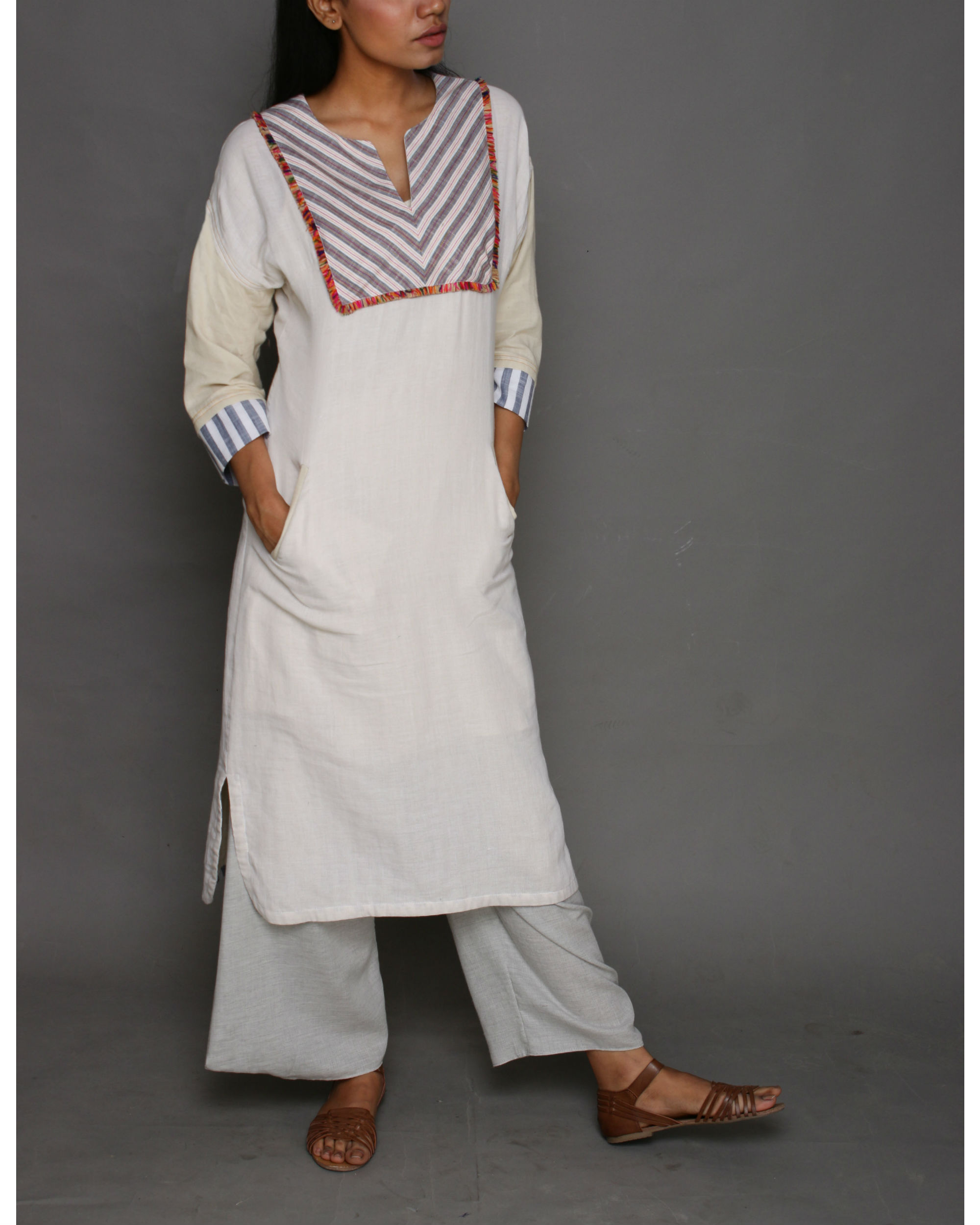 Cotton folk tunic