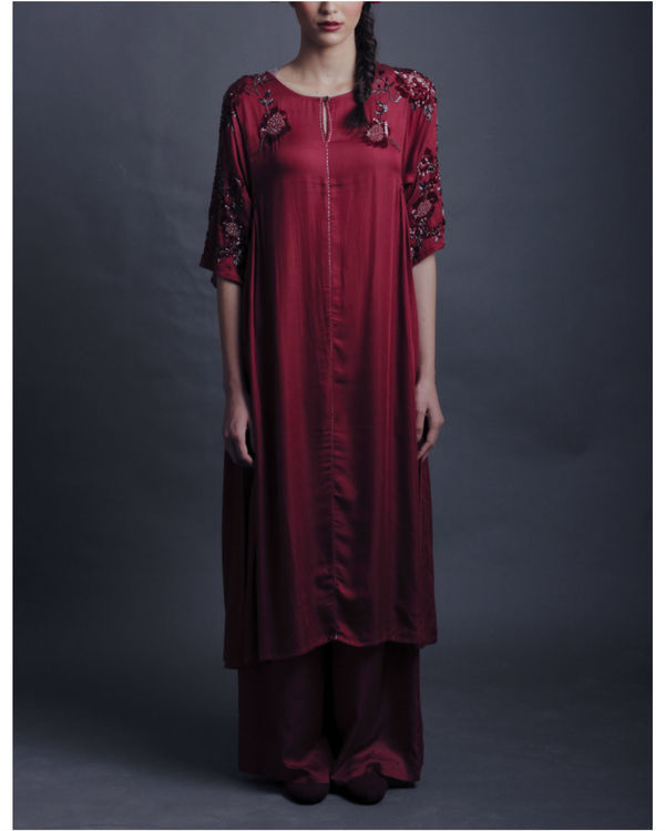 Ziva maroon dress