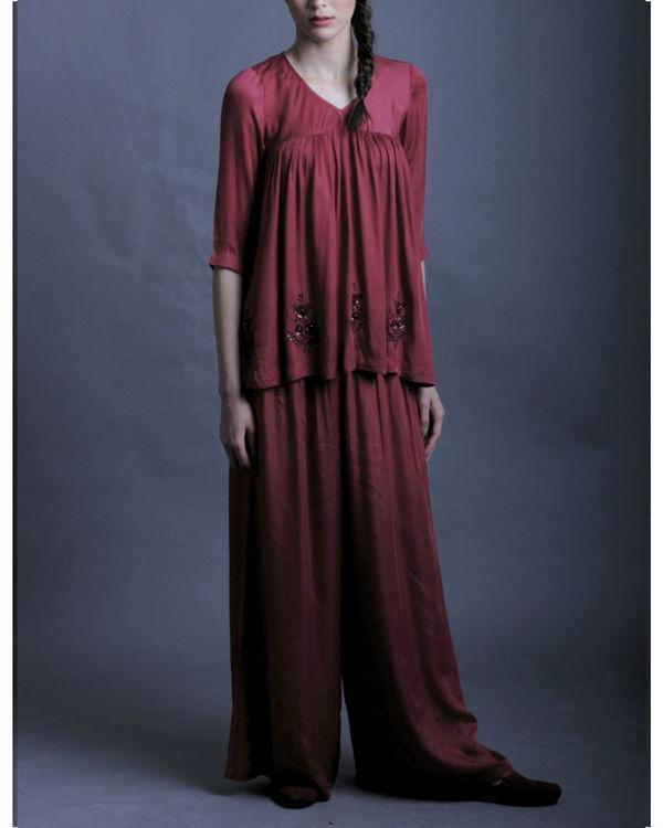 Vesna maroon tunic