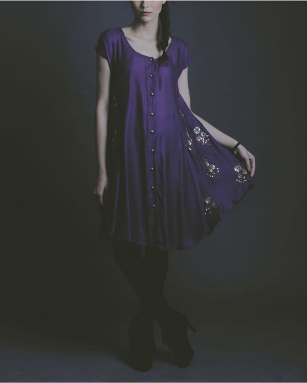 Roza purple dress