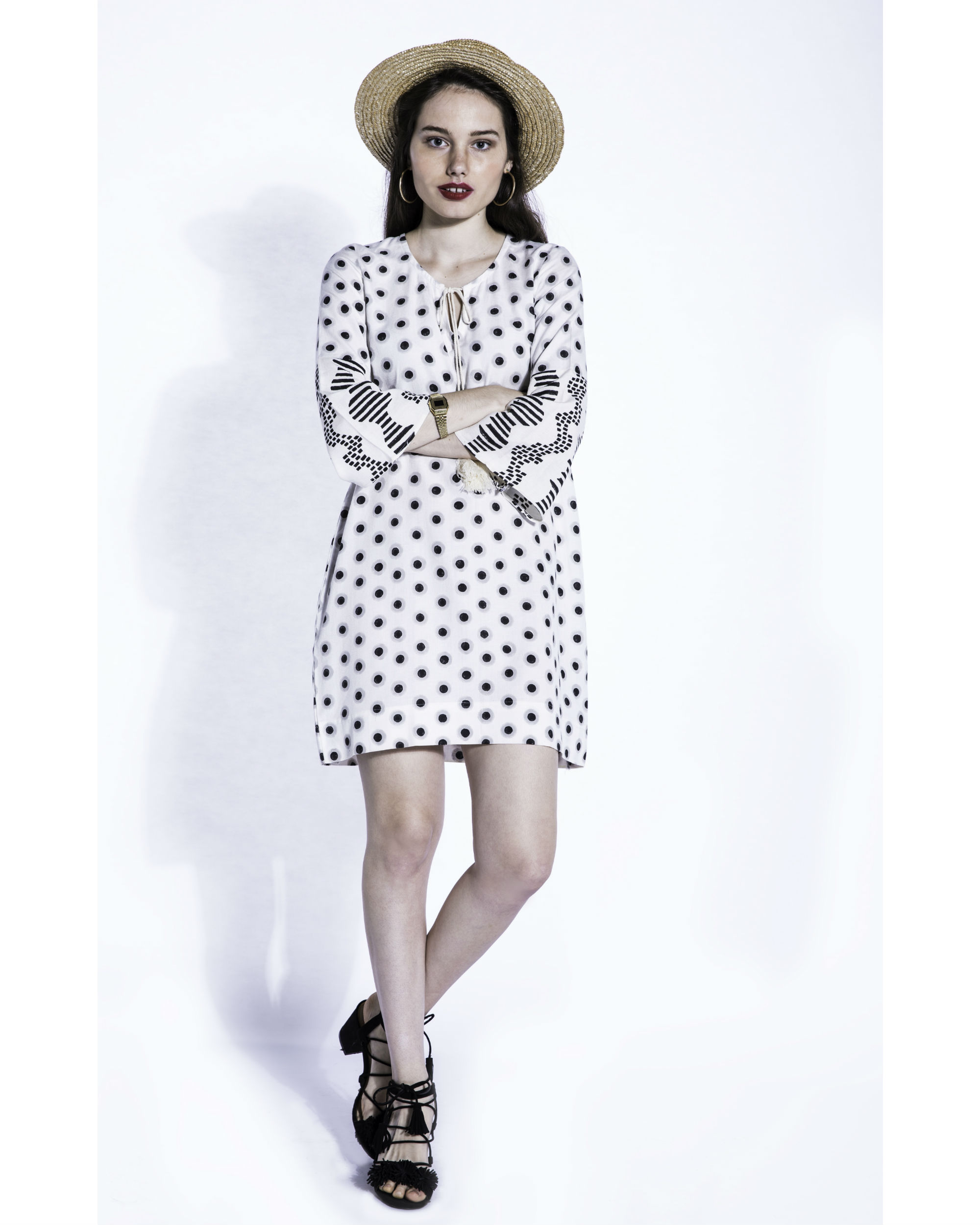 Shiro dots shift dress
