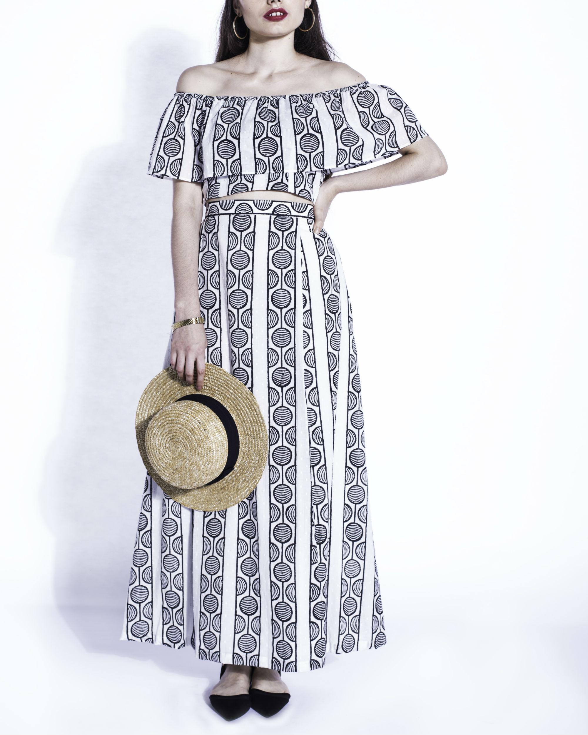 Shiro swahili maxi skirt
