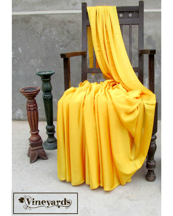 Golden cascade saree