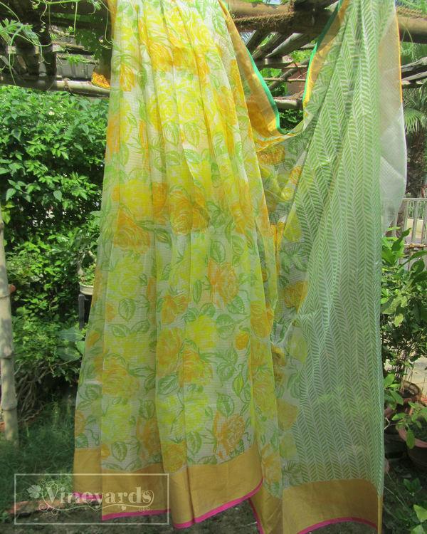 Spring allure saree