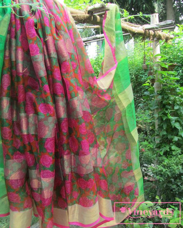 Old rose saree