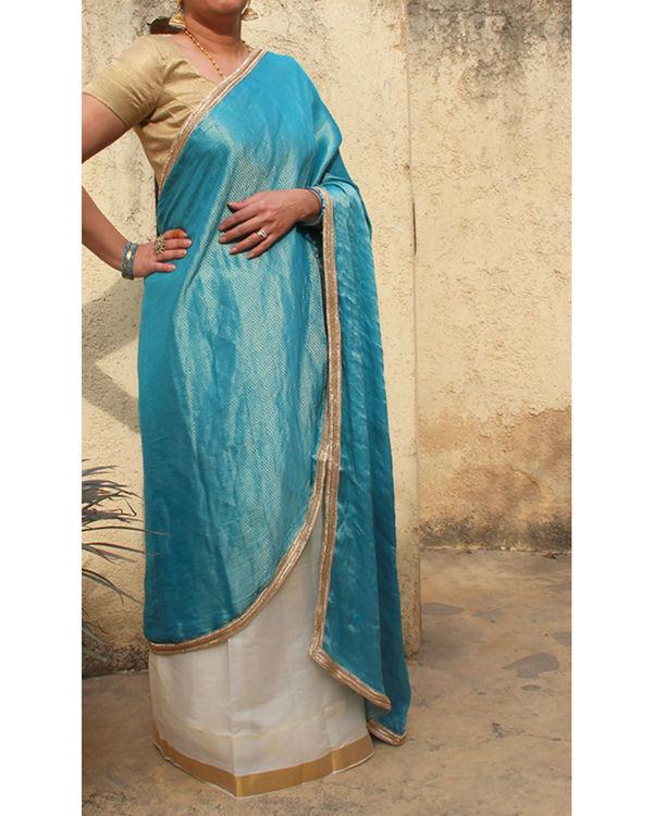 Turquoise sarong saree
