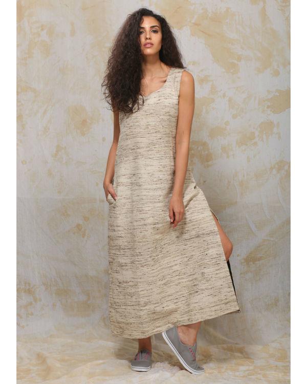 Khadi slit dress
