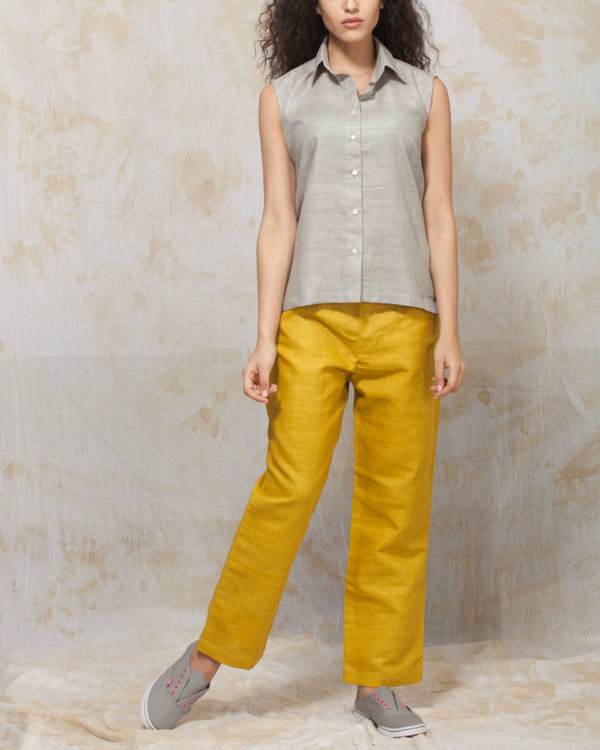 Yellow sunflower trousers
