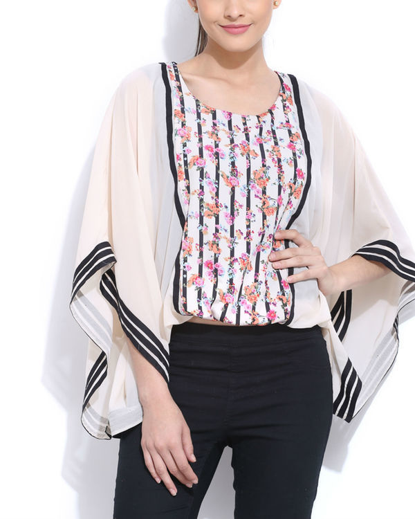 Panelled poncho top
