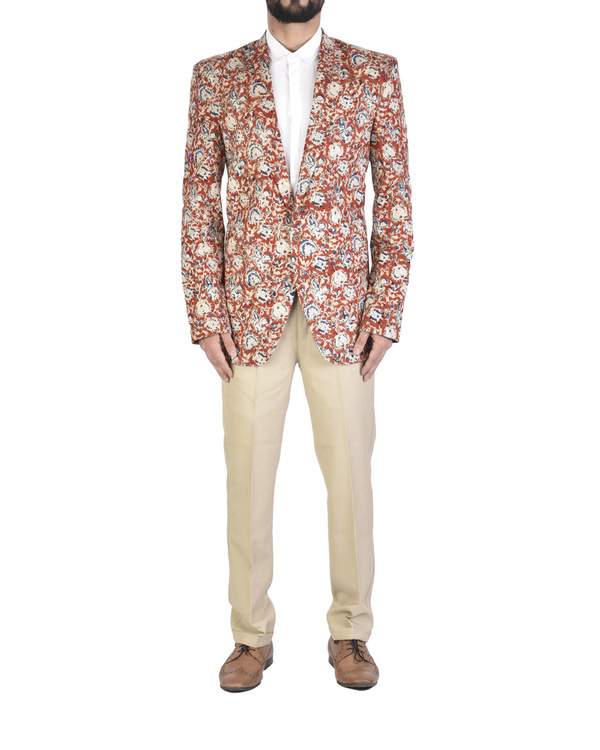 Kalamkari cotton blazer