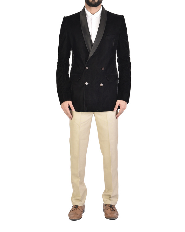 Shawl collar double breasted blazer