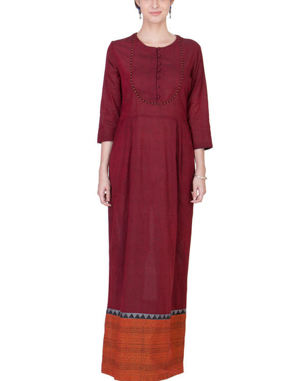 Maroon and orange maxi