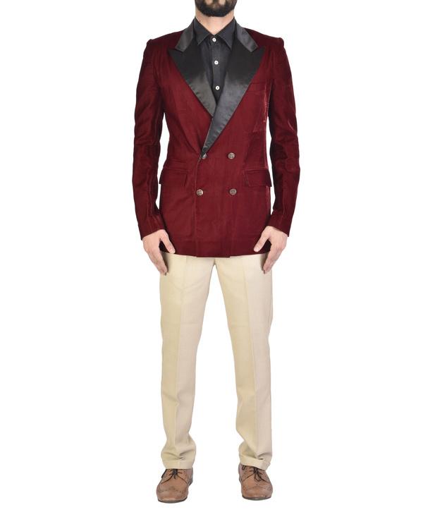 Maroon velvet jacket