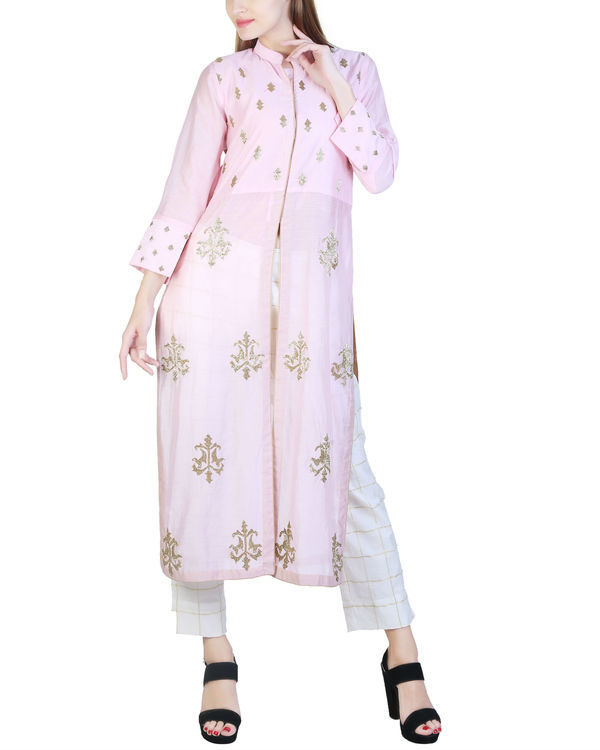 Pale pink tunic with pants