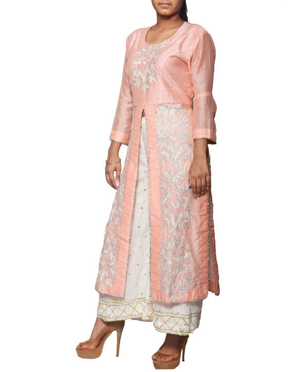 Pink tunic with sharara pants