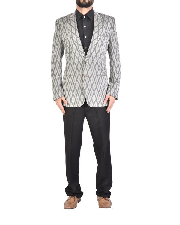 Grey ikat jacket