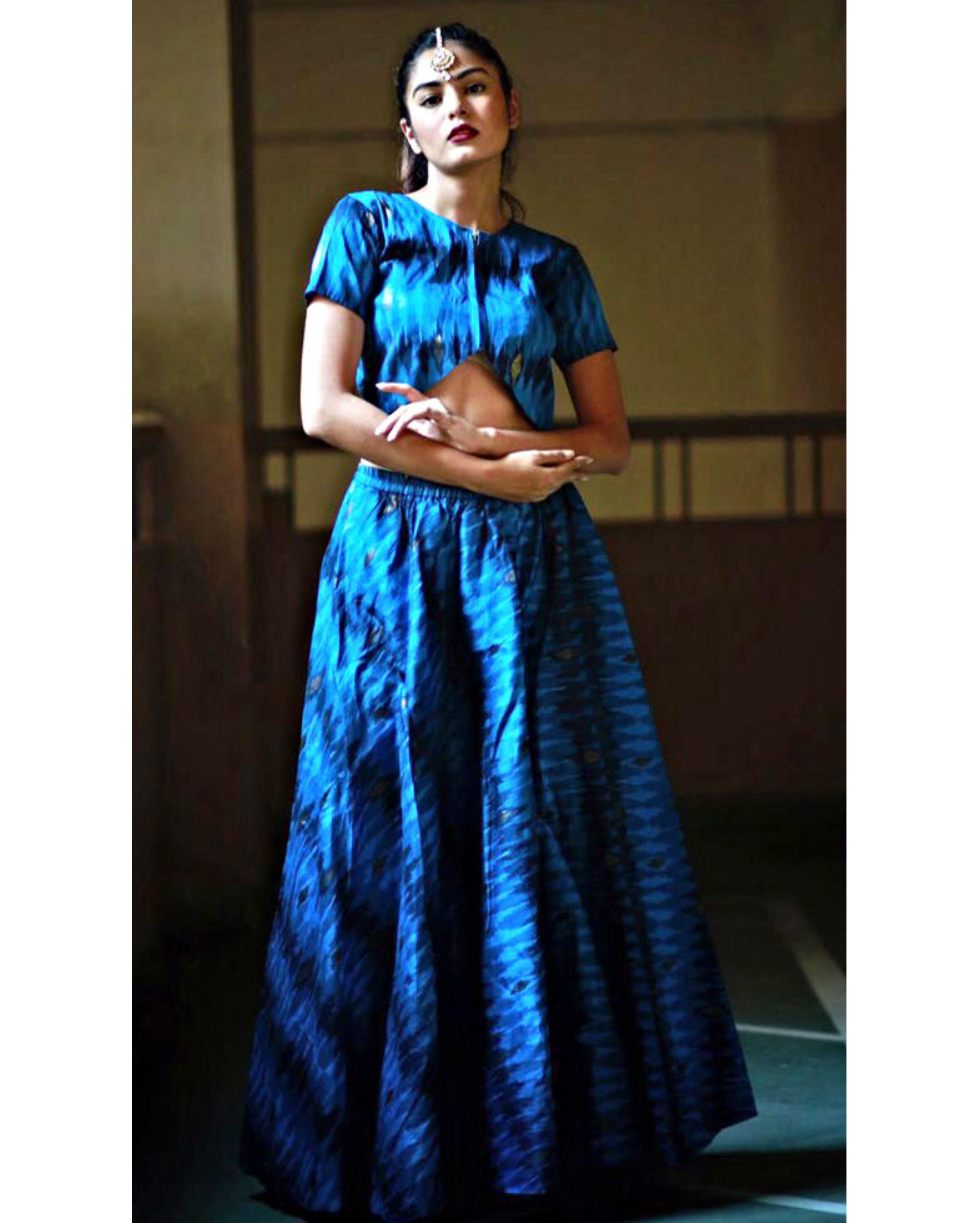 Blue ghaghra set