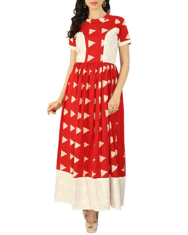 Red block dress
