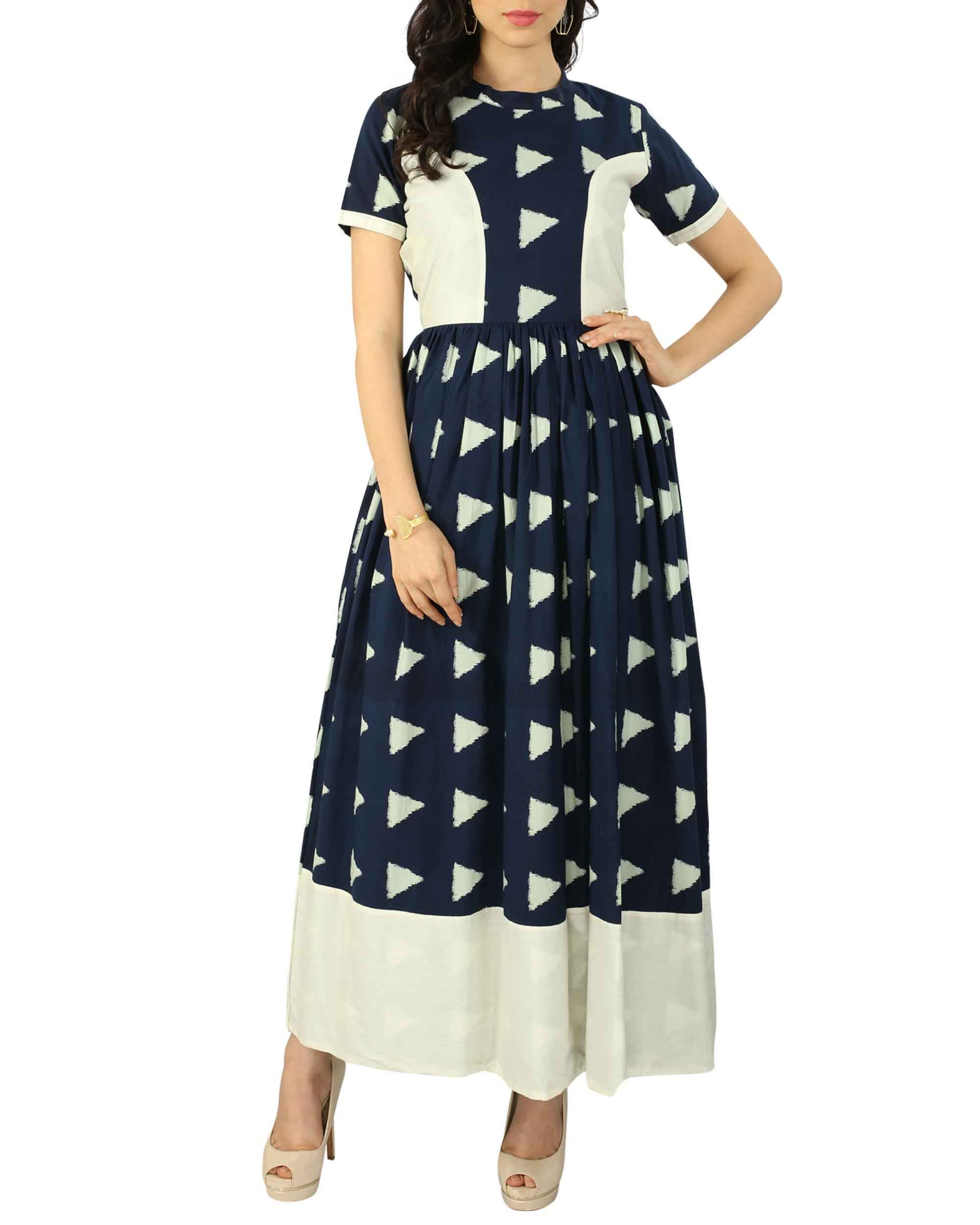 Navy block dress