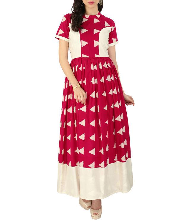 Pink block dress