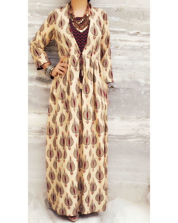 Brown gypsy dress with coverup