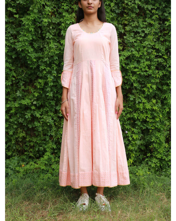 Peach summer anarkali