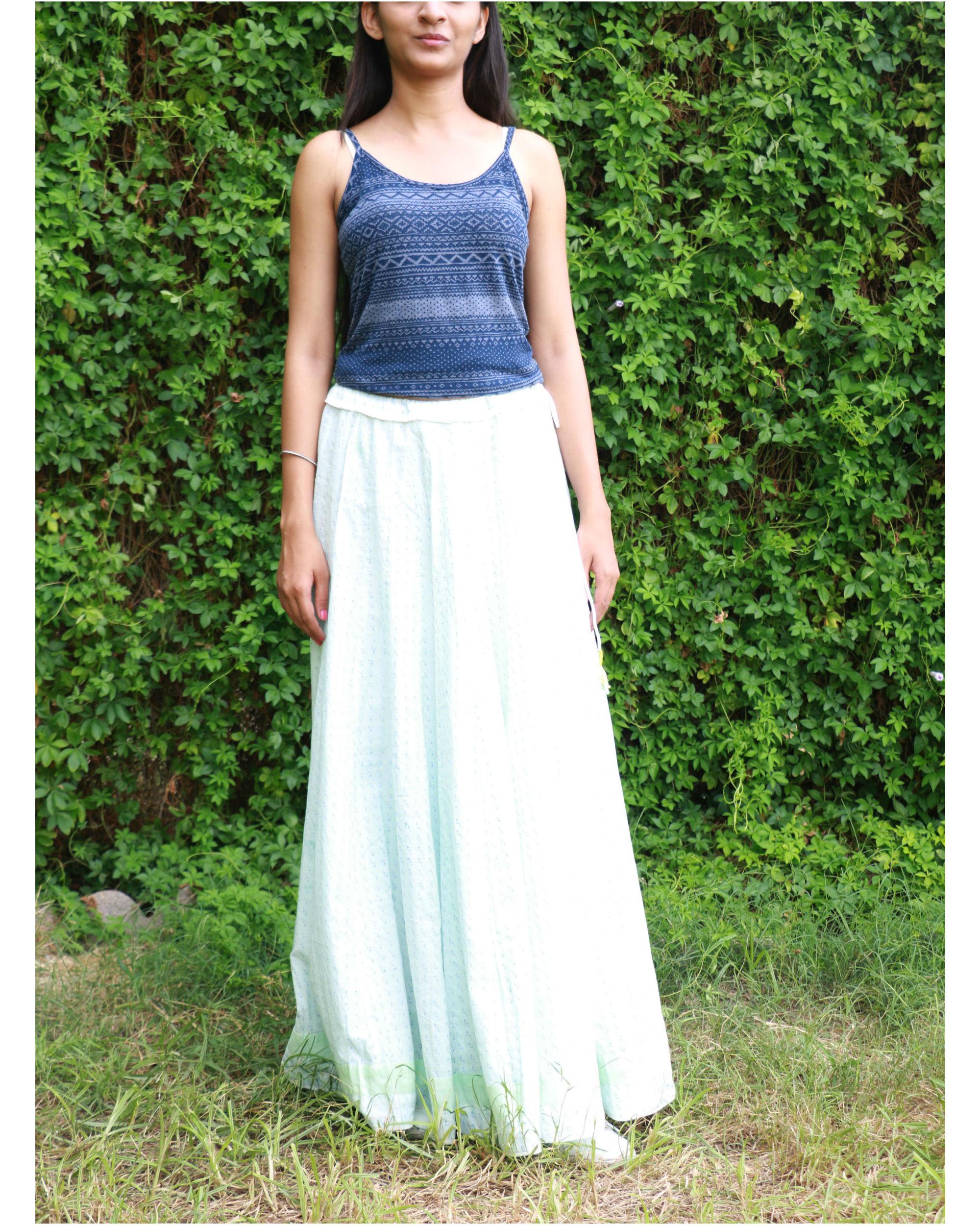 Blue kali skirt