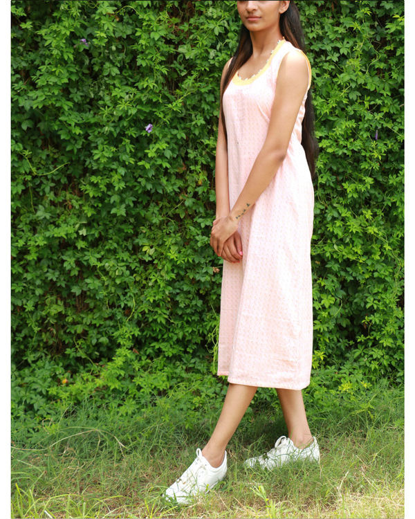 Peach a-line dress