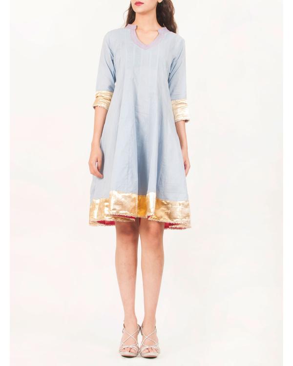 Blue gota patti dress