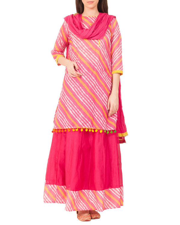 Rani pink skirt set