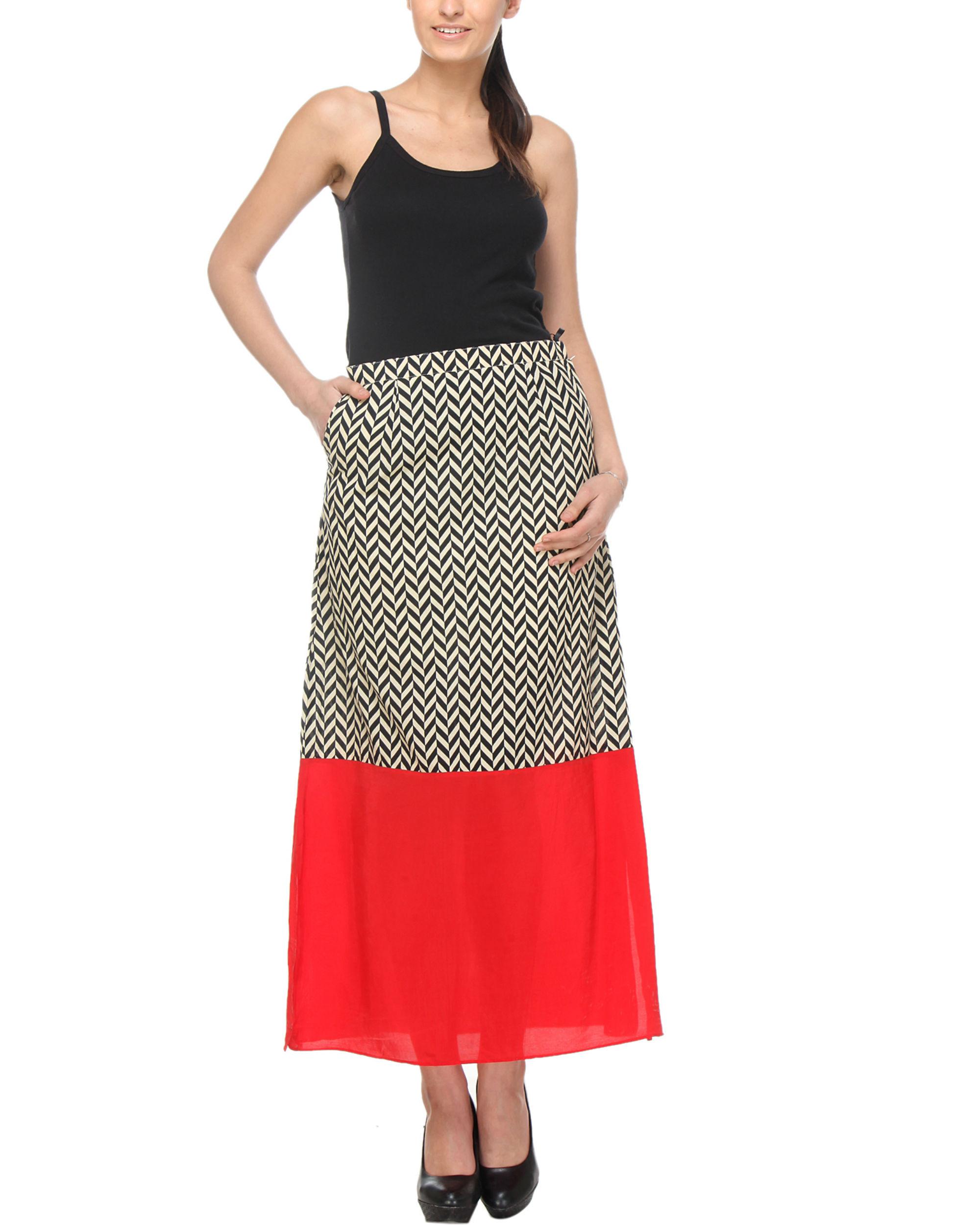 Chevron red skirt